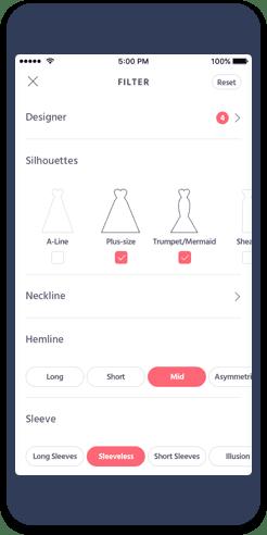 Brides app screenshot
