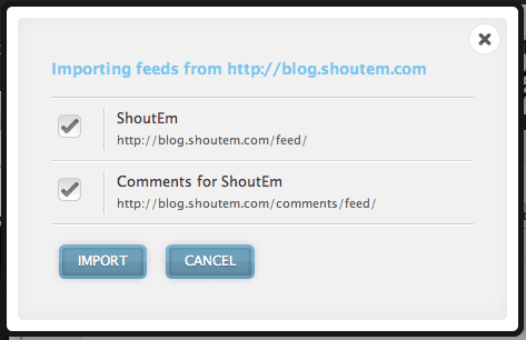 Importing Feeds