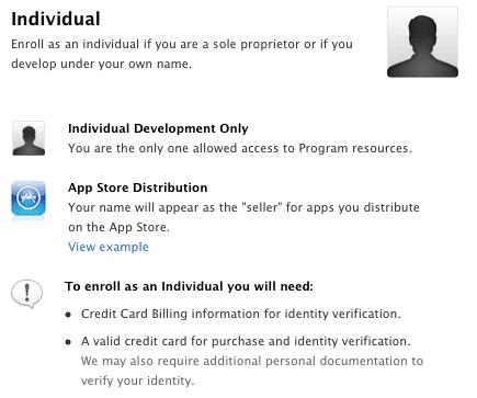 how to create ios developer account