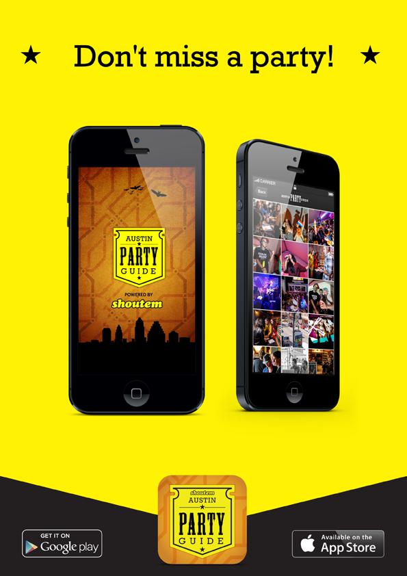 flyer A4 01 ShoutEm Austin Party Guide 2013 App for SXSW