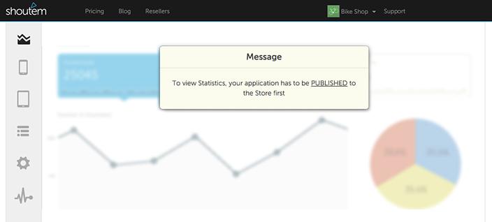 Shoutem_app_builder_enriched_app_statistics_app not published