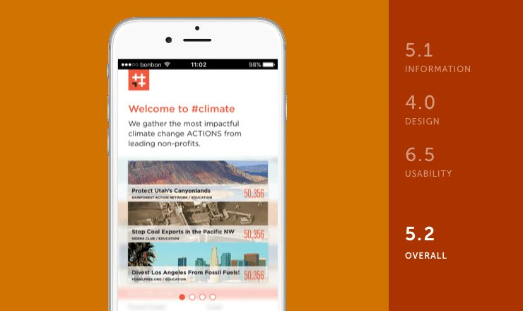 #climate mobile app
