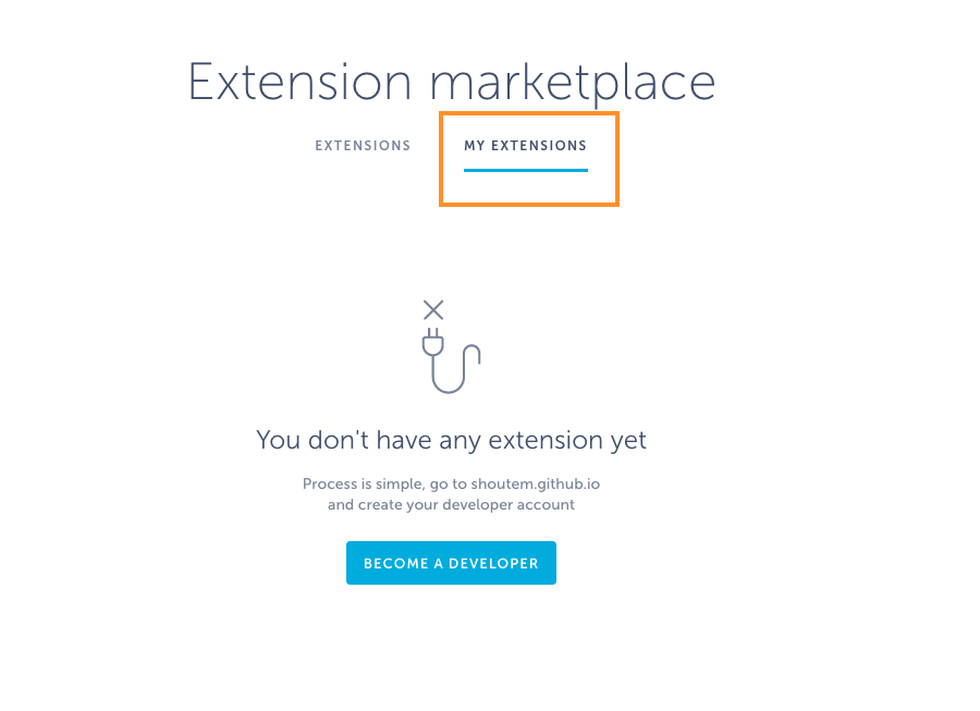 how to set extensions