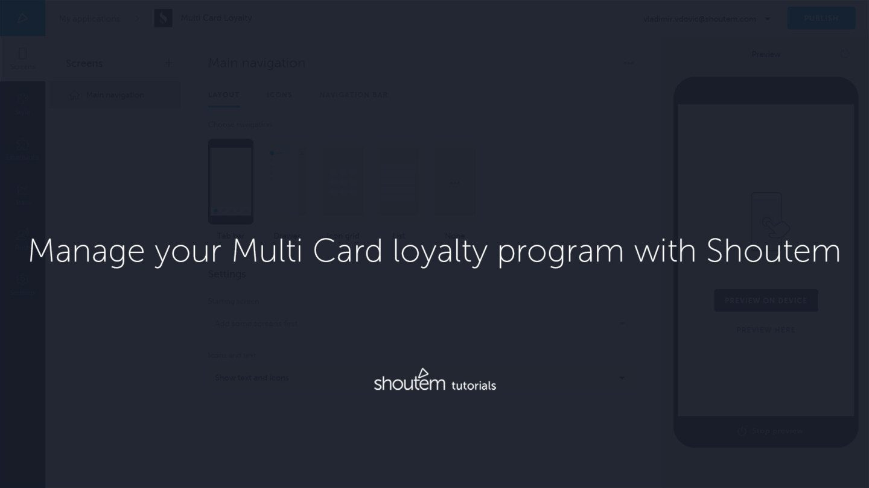 manage multi card loyalty program app