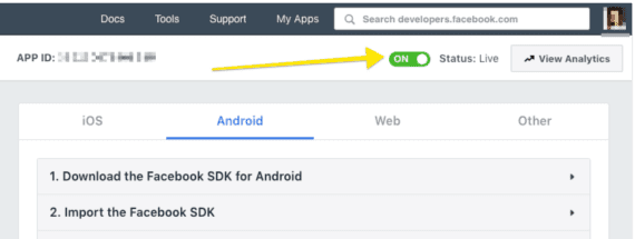Facebook Integration part ll  - Creating a Facebook App – Shoutem