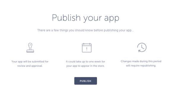 publish an app