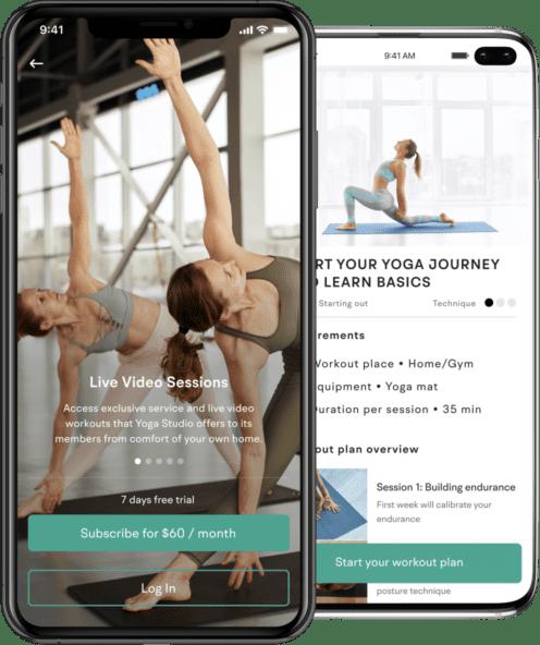 yoga app creator