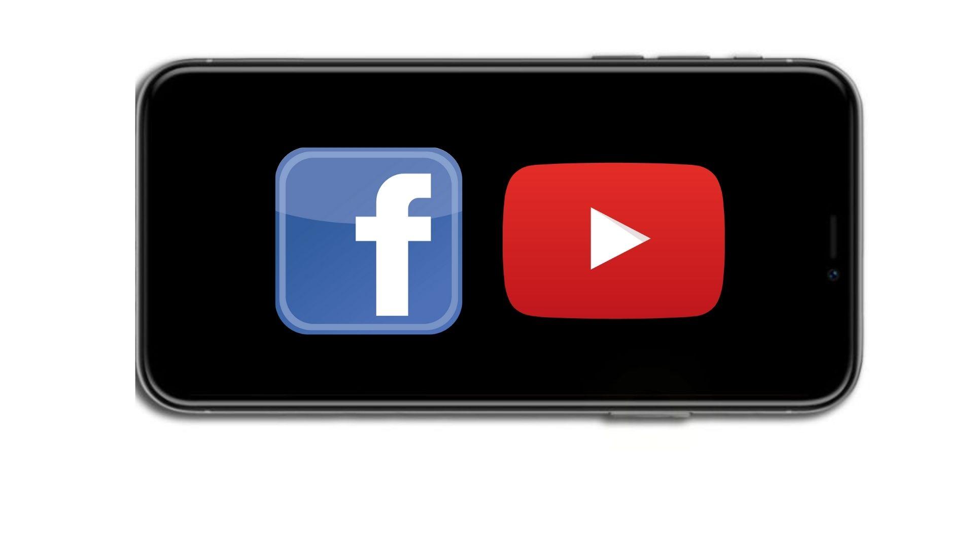 facebook and youtube logo