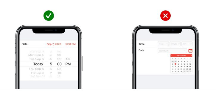 app design touch controls
