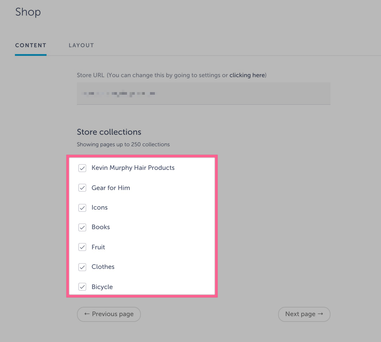 store collections shoutem app