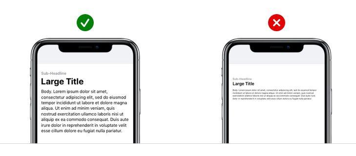 app design text size