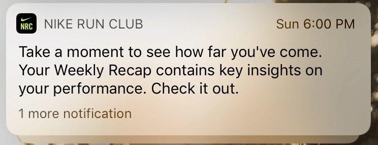 notification goals
