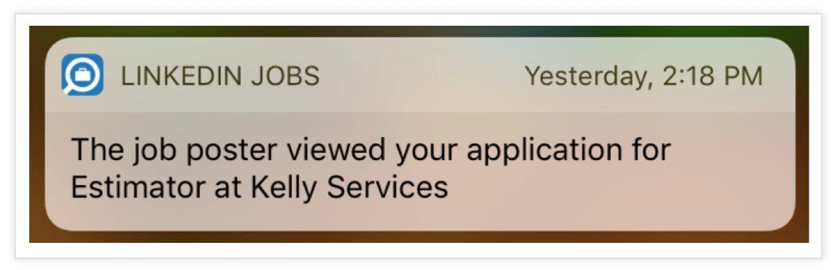 push notification message