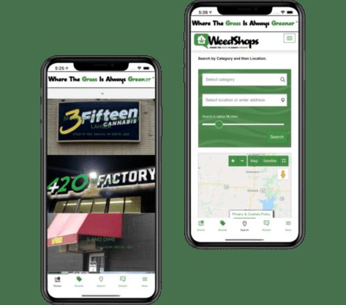 app development - weedshops